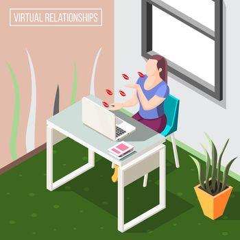Virtual Relationships Isometric Background