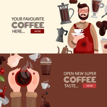Coffee Production Horizontal Banners