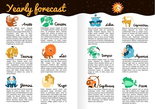 Zodiac Signs Infographics