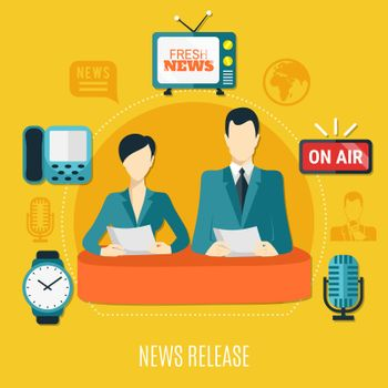 News Release Design Composition