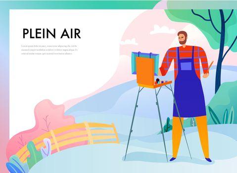 Plein Air Painting Illustration