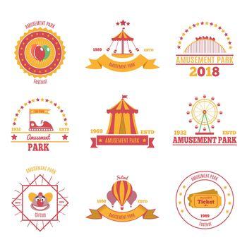 Amusement Park Emblems Set