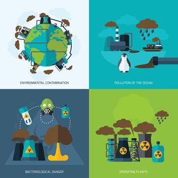 Pollution Icon Flat