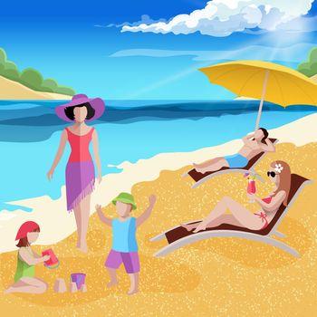 Coastal Paradise Beach Composition