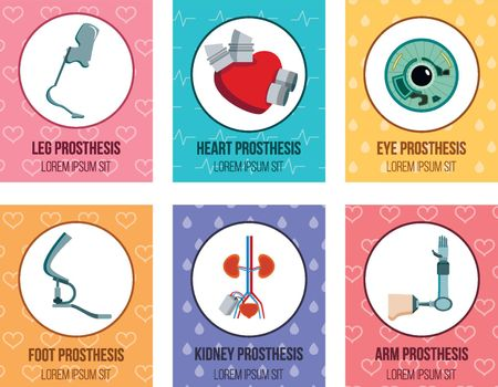 Prothesis Implants Flat Cards