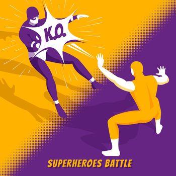 Superhero Battle Isometric