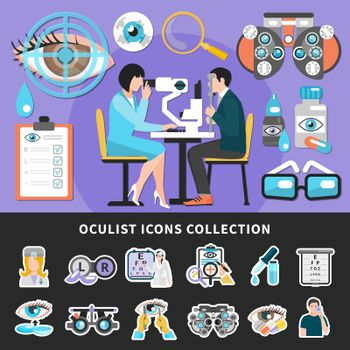 Oculist Test Banners Icons