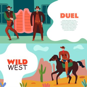 Wild West Duel Banners