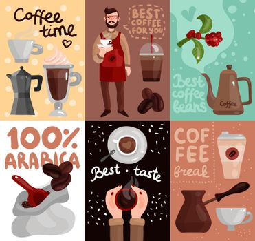 Coffee Production Flat Cards