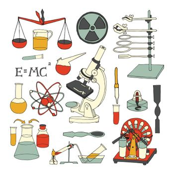Science sketch icons