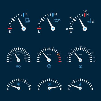 Speedometer interface icons