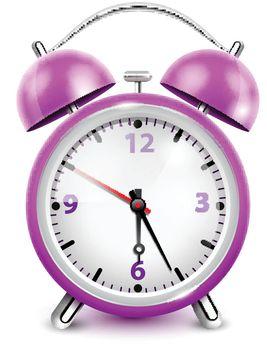 Purple Alarm Clock