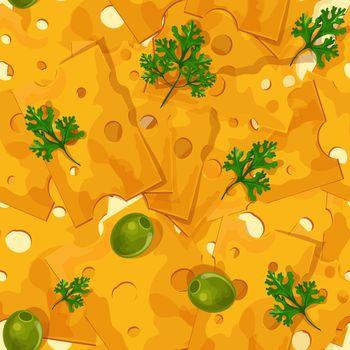 Cheese seamless pattern