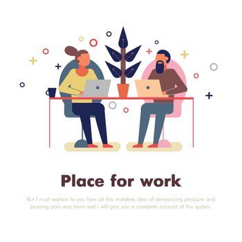 Coworking People Illustration