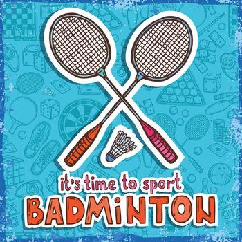 Badminton sketch background