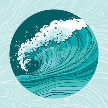 Sea waves circle