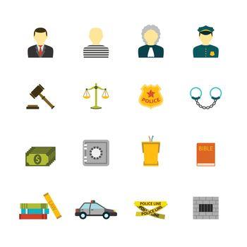 Crime and Punishments Icons Set