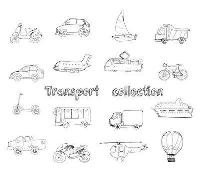 Transport doodle set
