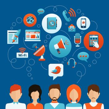 People Communication Concept