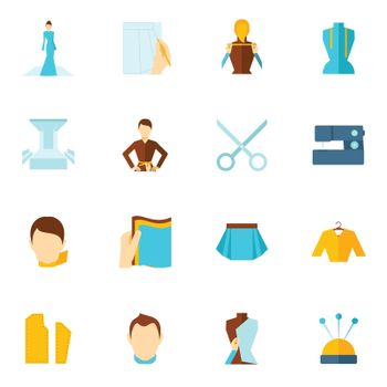 Clothes designer icon flat
