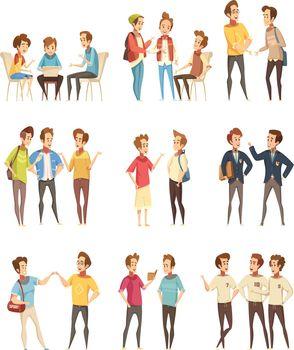 Teenage Boys Groups Cartoon Icons