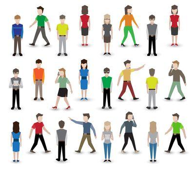 People pixel avatars