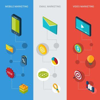 Marketing Isometric Banners