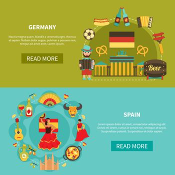 Germany Spain Banners Set