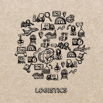 Logistic Sketch Icons