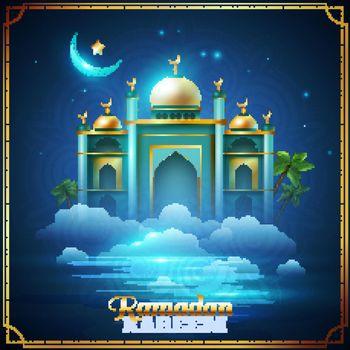 Ramadan Kareem Night Mosque Poster