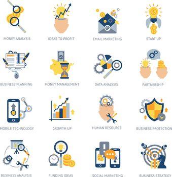Business Analysis Icons Set