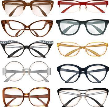 Modern Eyeglasses Set