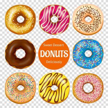 Realistic Donuts Set