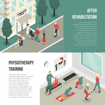 Rehabilitation And Physiotherapy Training Banners