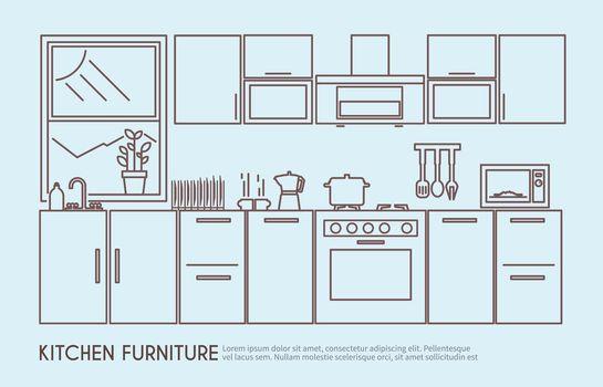 Kitchen Furniture Illustration