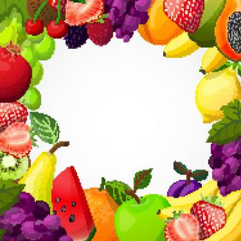 Fruits Frame Template