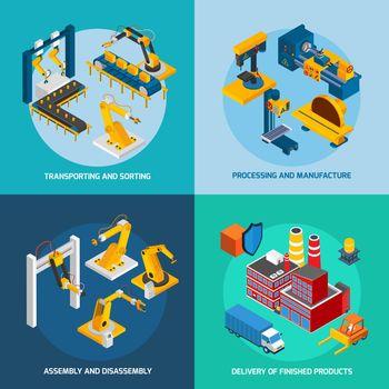 Isometric Robot Machinery