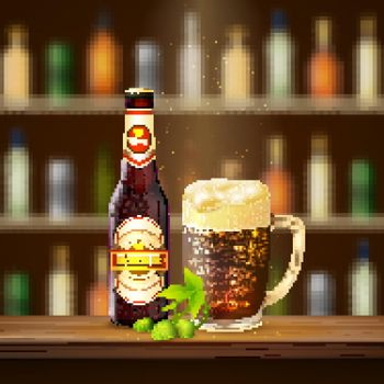 Realistic Beer Illustration