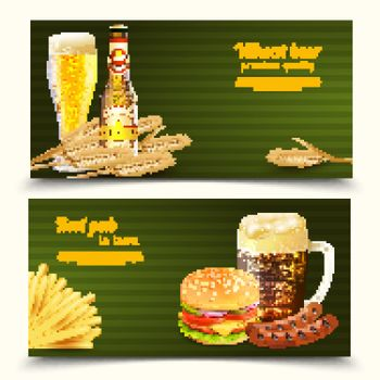 Realistic Beer Banners