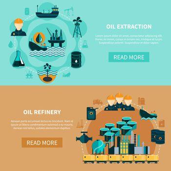 Petroleum Transportation Banners Set