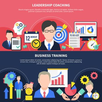 Business Training Banners Set