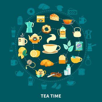 Tea Time Round Composition