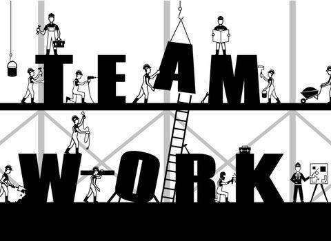 Construction Teamwork Poster