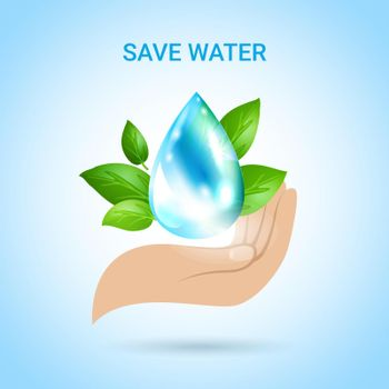 Save Water Background