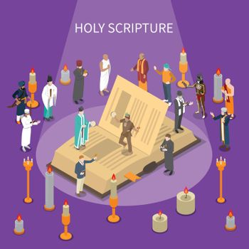 Holy Scripture Isometric Composition
