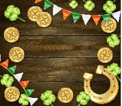 Saint Patricks Day Wooden Background