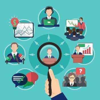 Business Meeting Speaker Concept