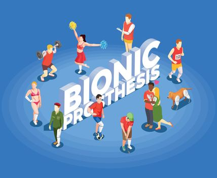 Bionic Prosthesis Isometric Vector Illustration