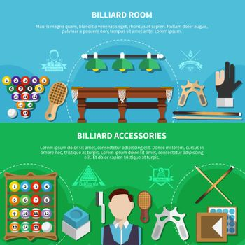 Billiard Room And Accessories Banners