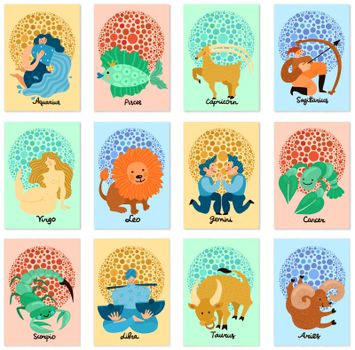 Zodiac Signs Vertical Cards
